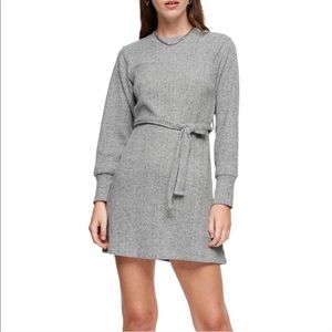 TopShop Long Sleeve Belted Sweater Dress